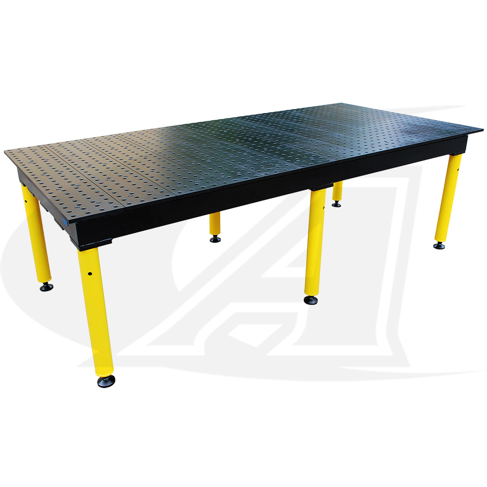 Large Image: BuildPro™ MAX 8\' (2.4m) Welding Table - Nitride Finish