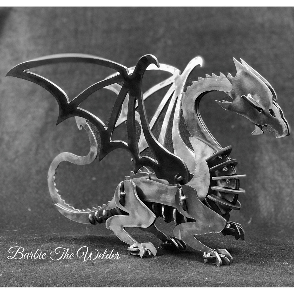 Large Image: Dragon: DIY Metal Sculpture Kit by Barbie The Welder