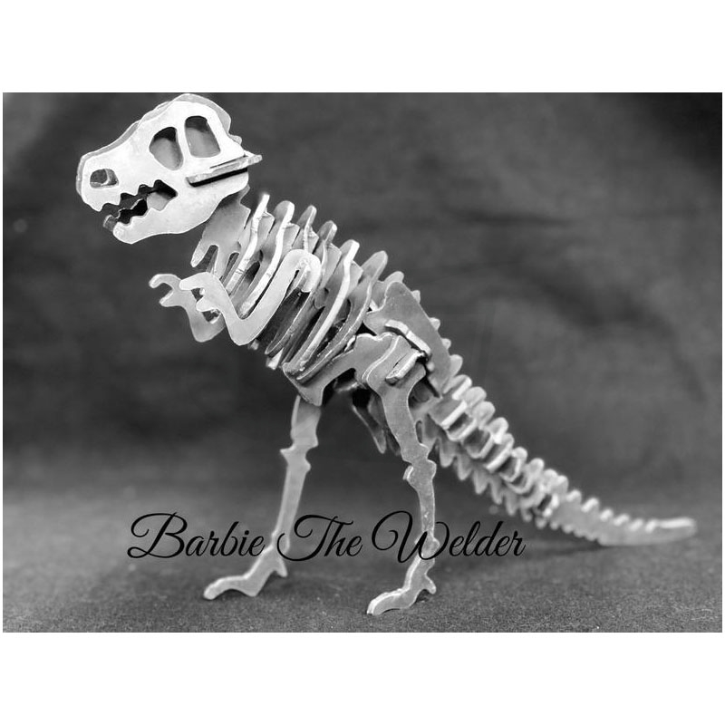 Large Image: Dinosaur: DIY Metal Sculpture Kit by Barbie The Welder