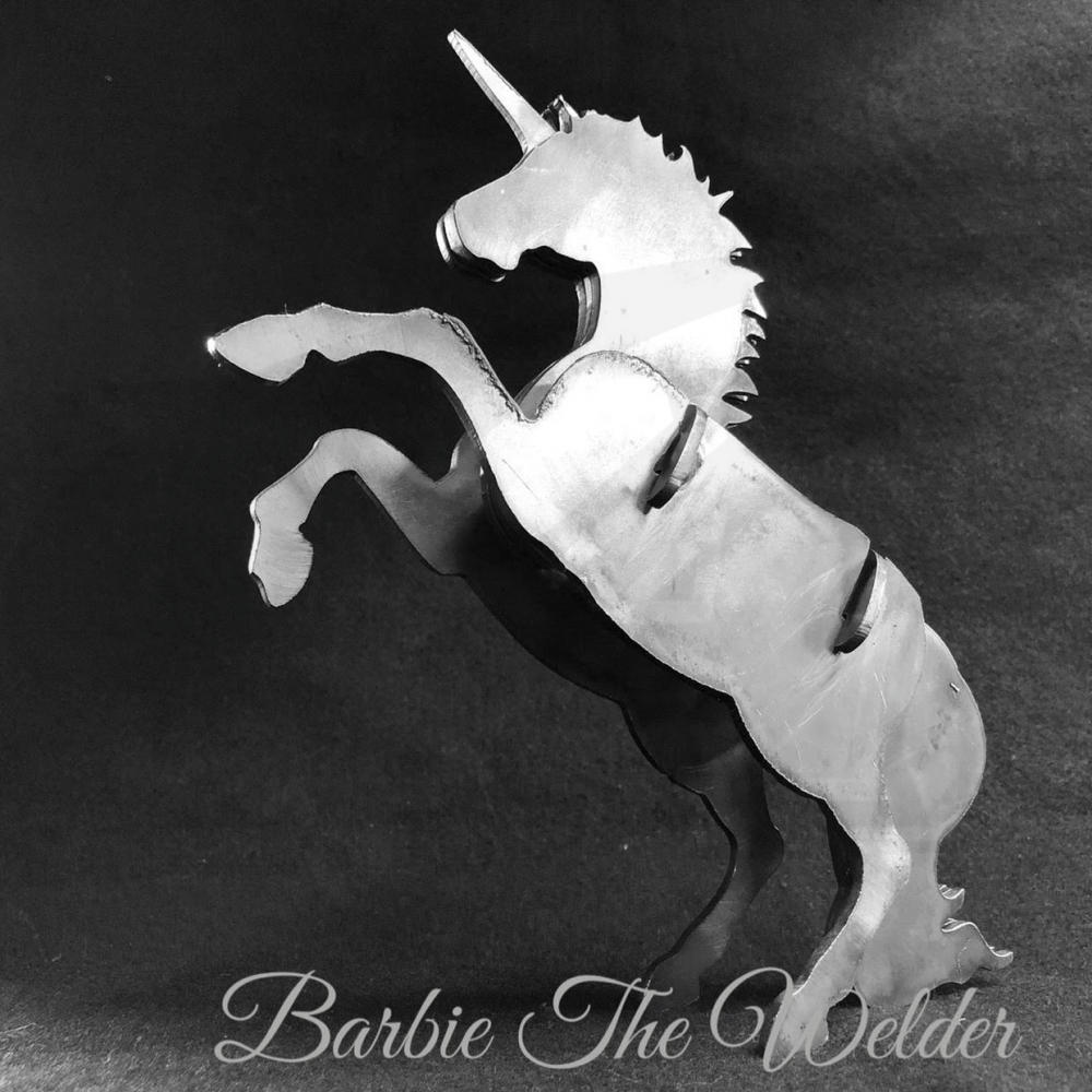 Large Image: Unicorn: DIY Metal Sculpture Kit by Barbie The Welder
