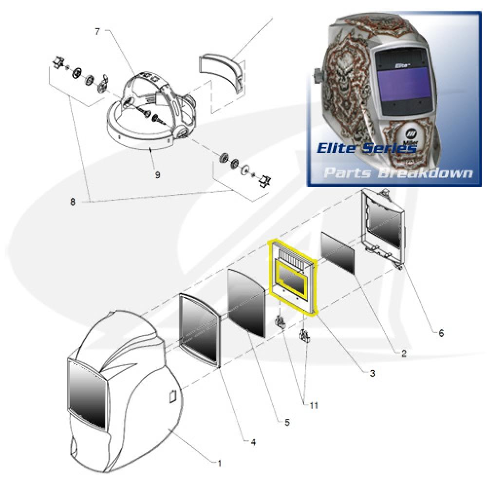 welding shield diagram elite replacement auto darkening lens assembly elite replacement  elite replacement auto darkening lens