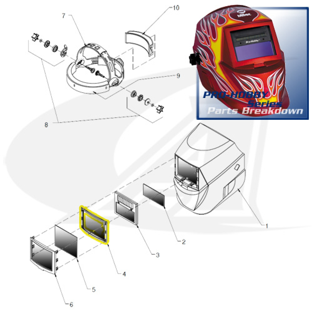 Jackson Safety Welding Helmet Parts Diagram