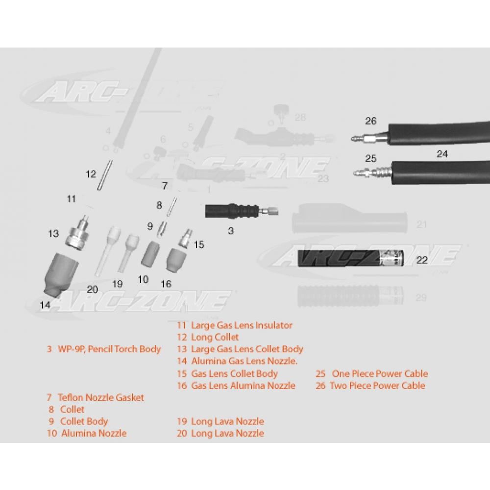 Wp 9 Tig Torch Body Cs125a 4280 The Welding Diagram