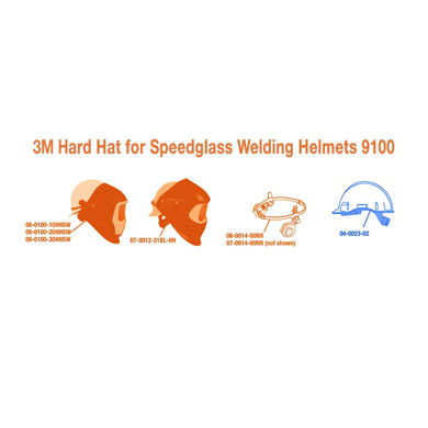 Click to see larger version of 3M Hard Hat with 4-point Ratchet Suspension H-701R, White