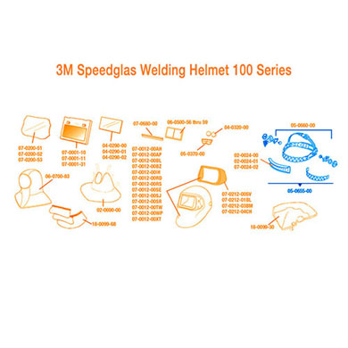 Click to see larger version of 3M Speedglas Headband and Mounting Hardware 100/SL