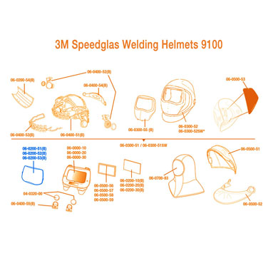 3M Speedglas Welding Helmet Outside Protection Plate 9100