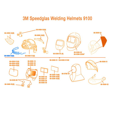 Click to see larger version of 3M Speedglas Headband 9100 Front Part