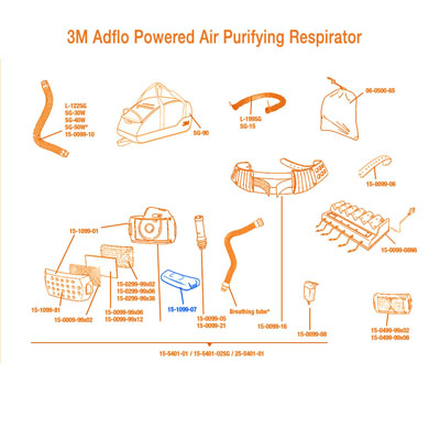 Click to see larger version of 3M Adflo Powered Air Purifying Respirator (PAPR) Battery