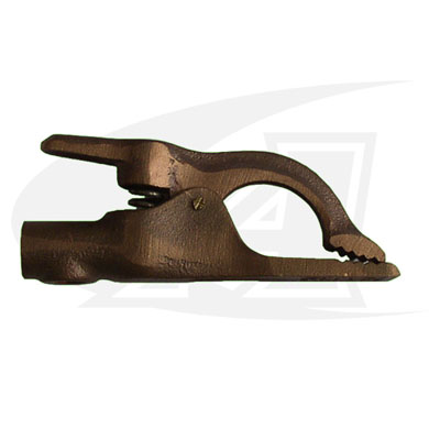 Click to see larger version of Flat Bill Style Copper Ground Clamp