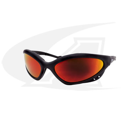 Click to see larger version of Shatterproof Safety Glasses. Shade 5 Lenses With Black Frames