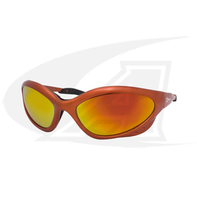 Click to see larger version of Shatterproof Safety Glasses. Shade 5 Lenses With Orange Frames