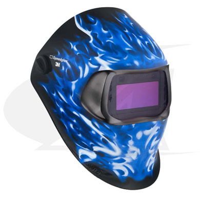 Click to see larger version of 3M™ 100 Series Welding Helmet - Ice Hot