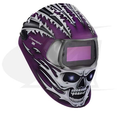 Click to see larger version of 3M™ 100 Series Welding Helmet - Raging Skull