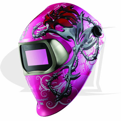 Click to see larger version of 3M™ 100 Series Welding Helmet - Wild-N-Pink