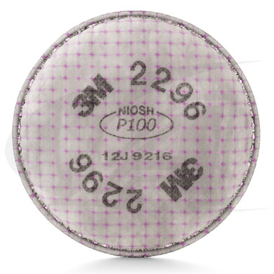 Click to see larger version of Particulate Filter 2296, P100 W/ Nuisance Level Acid Gas