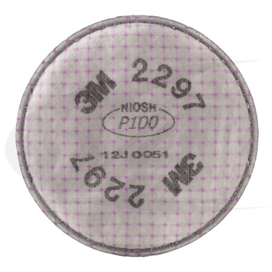 Click to see larger version of Particulate Filter 2297, P100 W/ Nuisance Level Organic Vapor