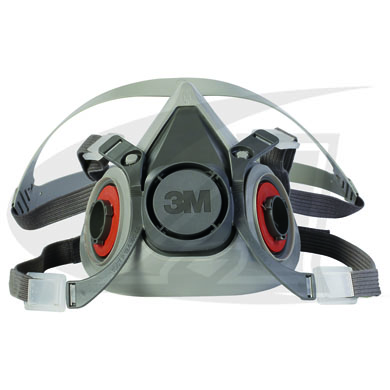 Click to see larger version of 3M™ Affordable 6000 Series Half Facepiece Respirator