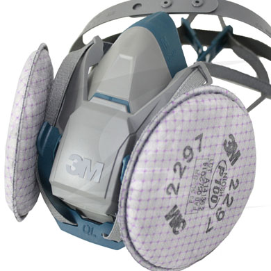 Click to see larger version of 3M™ Rugged Comfort Half Facepiece 6500 Series