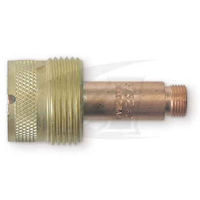"Click to see larger version of Large Diameter Gas Lens Collet Bodies, .020"" (.05) - 5/32\"" (4.0)"