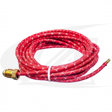 WP-20 - 25\' (7.6m) Red Rubber Power Cable, 250 Amp
