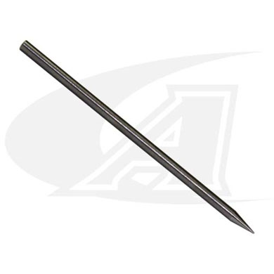 "Click to see larger version of Long Double-End Ground Electrode, 3/32"" (2.4mm)"