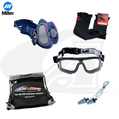 Click to see larger version of Miller PPE Pack With Safety Goggles