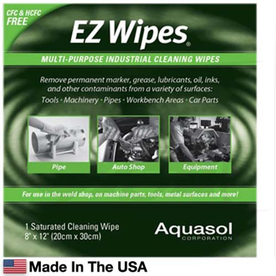 Click to see larger version of EZ Wipes - Weld Prep Cleaner Packets