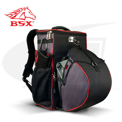 Click to see larger version of NEW! BSX® HelmetCatch™ Backpack With Side Pockets