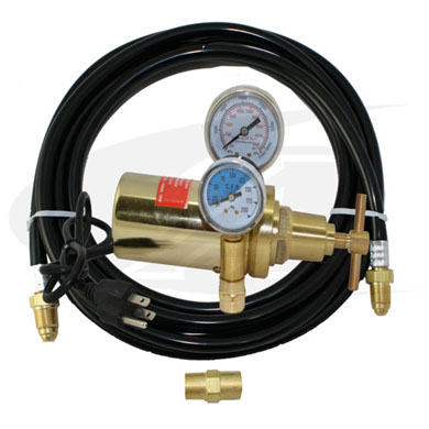 Click to see larger version of Co2 Heated Flow Meter/Flow Gauge- 240V E.U. Style With Gas Hose