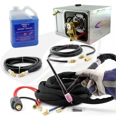 Click to see larger version of CoolKit™ For TIG Machines with Gas-Thru DINSE Connection