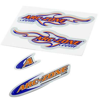Click to see larger version of Arc-Zone Decal Kit