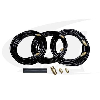 Click to see larger version of 25\' (7.6m) Rubber Extension Kit for Water-Cooled TIG Torches