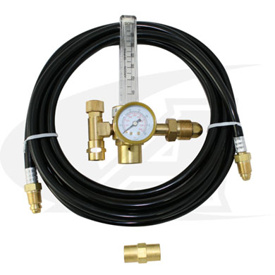 Click to see larger version of Low-Cost Argon Flowmeter w/ Gas Hose Kit