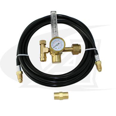 Click to see larger version of Low-Cost Co2 Flow Meter with Gas Hose Kit