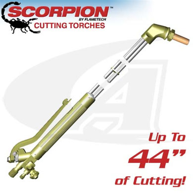Click to see larger version of 70º Scorpion 8600 Series Cutting Torch - Any Fuel Gas