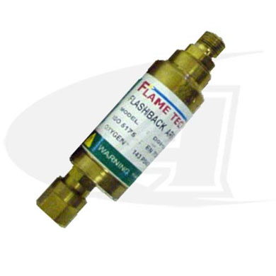"Click to see larger version of High Flow Torch Mounted Flashback Arrestor - Oxygen - ""C\"" Size"