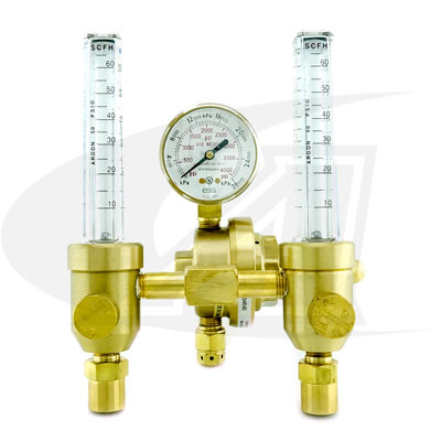 Click to see larger version of Premium Dual Helium Flowmeter/Regulator