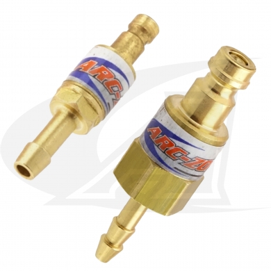 Click to see larger version of NEW Zero Loss Quick-Release TIG Water & Gas Hose Plugs