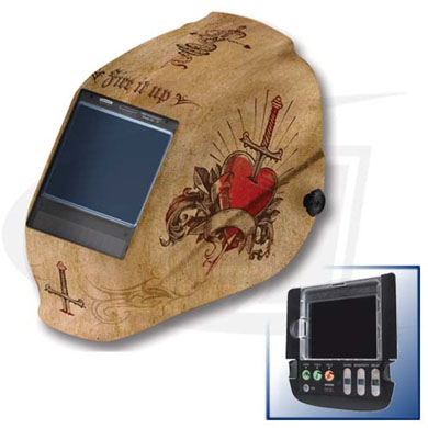 Click to see larger version of W60 Halo X Truesight Digital 3-N-1 EQC Helmet - Tattoo