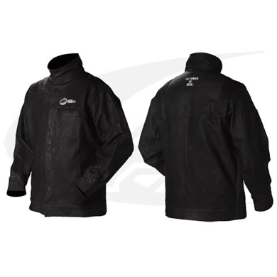 Click to see larger version of Miller\'s Premium Leather Welding Jacket