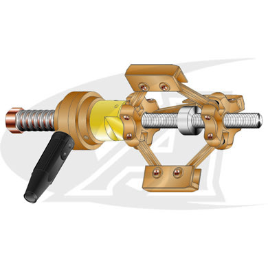 Click to see larger version of Rotating Internal Pipe Ground Clamps