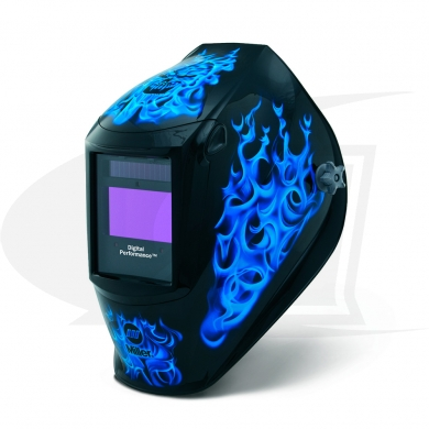 Click to see larger version of Digital Performance Series Blue Rage ADF Welding Helmet