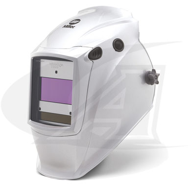 Click to see larger version of Titanium 7300 Auto-Darkening Welding Helmet With InfoTrack