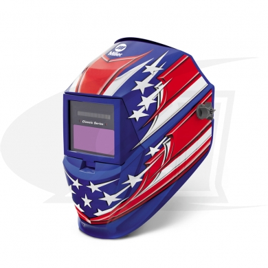 Click to see larger version of Classic Series Stars & Stripes Auto-Darkening Welding Helmet