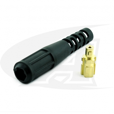 Click to see larger version of Miller Small Gas-Thru DINSE Connector