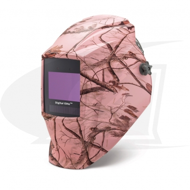 Click to see larger version of Digital Elite Pink Camouflage Auto-Darkening Welding Helmet