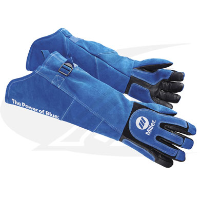 Click to see larger version of Heavy-Duty Long-Cuff MIG/Stick Welding Gloves From Miller
