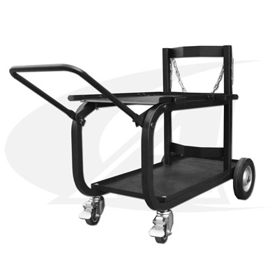 Click to see larger version of Medium Universal Welding Cart W/ Folding Handle