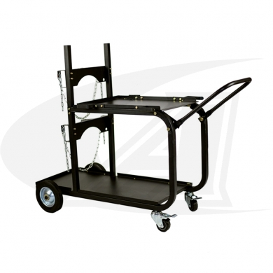 Click to see larger version of Large Universal Welding Cart W/ Folding Handle