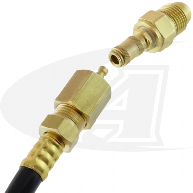 Click to see larger version of Quick-Release TIG Gas Coupler & Hose Converter